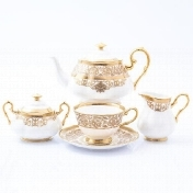 Фото Чайный сервиз Prouna Golden Romance Cream Gold 6 персон 17 предметов