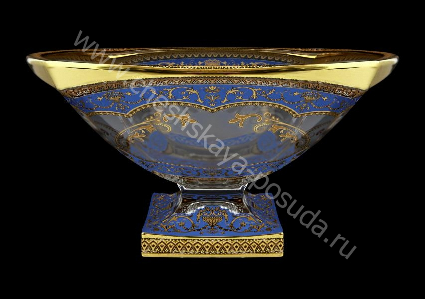 Фото Фруктовница 34 см Magma Flora's Empire Golden Blue Decor+H Astra Gold